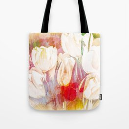 Tulip Fever Abstract Art Tote Bag