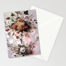 Victorian flowers and fruits Stationery Cards