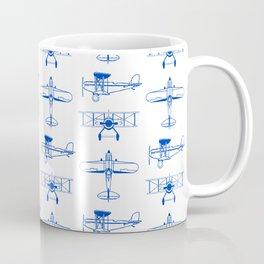 Blue Biplanes Coffee Mug