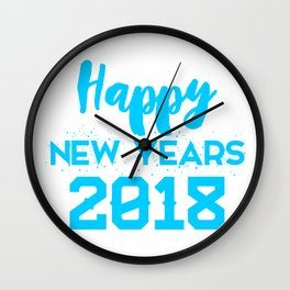 Happy new Years 2018 Wall Clock
