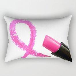 Breast Cancer Awareness Ribbon Rectangular Pillow