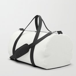 Off-White - Crisp Linen White Solid Color Parable to Behr Ultra Pure White UPW Duffle Bag
