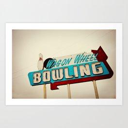 Wagon Wheel Bowling  Art Print