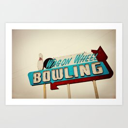 Wagon Wheel Bowling  Art Print
