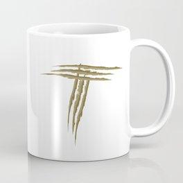 Letter T scratch (gold) Coffee Mug