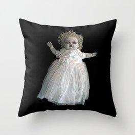 Zombie Doll. Throw Pillow