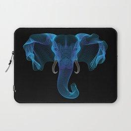 The Eloofah Elephant (Blue) Laptop Sleeve