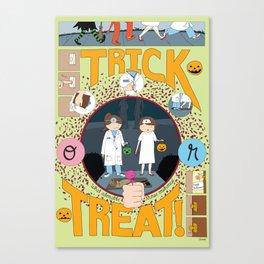 Trick or Treat (print) Canvas Print