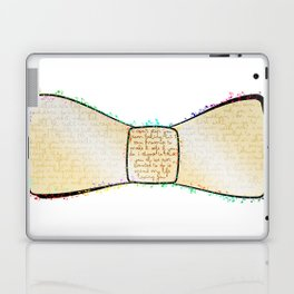 Bow to the words Laptop & iPad Skin