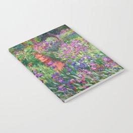 Claude Monet - The Iris Garden At Giverny Notebook