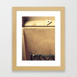 Chewing Heart Framed Art Print