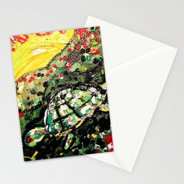 Sunset turtle Stationery Cards