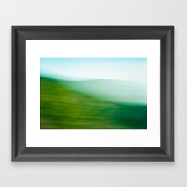 Mountains and Sea Framed Art Print