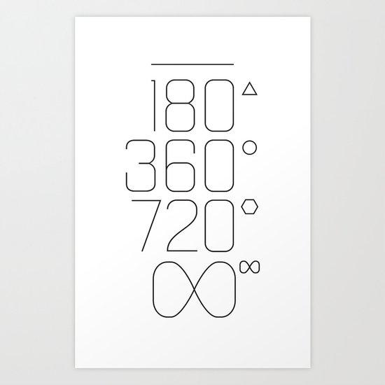 Shapes & Angles Art Print