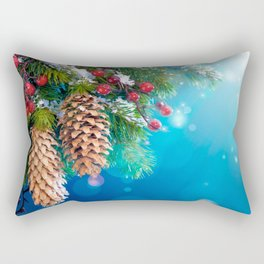 Christmas Pines Rectangular Pillow