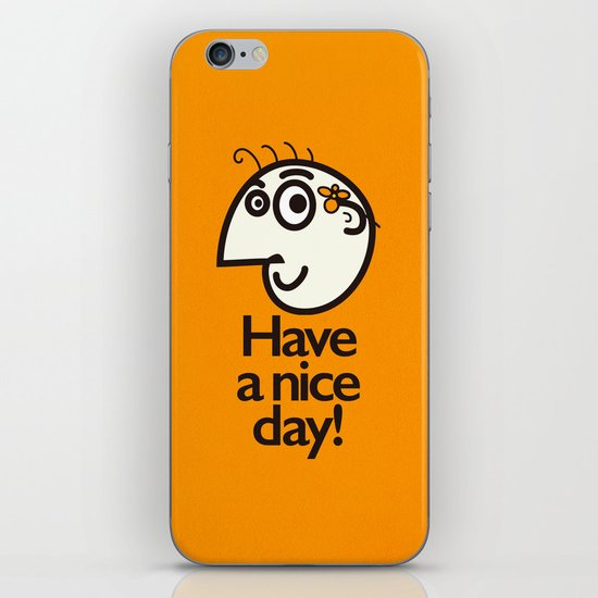 Have A Nice Day Happy Character iPhone & iPod Skin