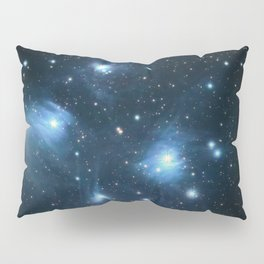 The Pleiades reflection nebula in the constellation of Taurus. Open star cluster. Pillow Sham