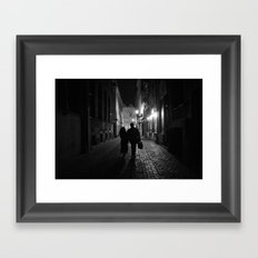 Brussels, a night walk in the heart of Europe Framed Art Print