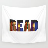 read Wall Tapestries featuring READ by Empire Ruhl