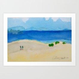 Dunes in Corralejo beach Art Print