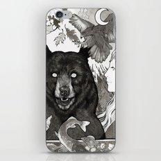 Bear, wolf, pike and falcon iPhone Skin