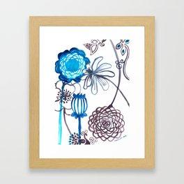 Blue-Seeded Framed Art Print