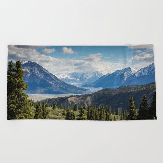 Mountain Landscape # sky Beach Towel
