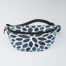 Flower Bloom, Aqua and Navy Fanny Pack
