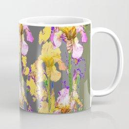 SPRING IRIS GARDEN FLORAL & IVY PATTERN DESIGN Coffee Mug