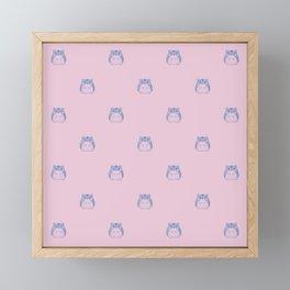 Cute Hamster Pattern Illustration Framed Mini Art Print