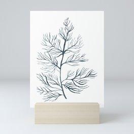 Indigo Seaweed Mini Art Print
