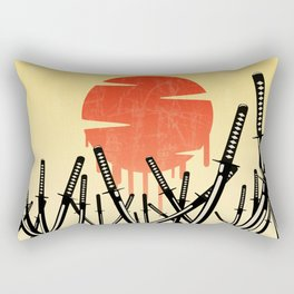 Katana Junkyard Rectangular Pillow