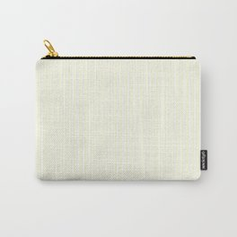 Small Vertical Pastel Lemon Yellow Princess Elizabeth Regal Stripe Carry-All Pouch