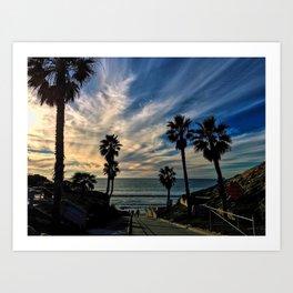 Beach Palm Trees Art Print