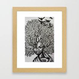 afro hair Framed Art Print