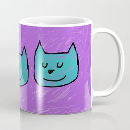 Cute Cats in blue Coffee Mug