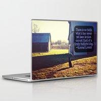 german shepherd Laptop & iPad Skins featuring Faithful German Shepherd by Jo Bekah Photography