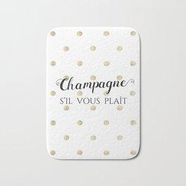 Champagne, s'il vous plaît Bath Mat