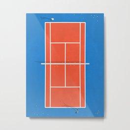 Match Point | Aerial Illustration Metal Print