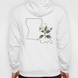louisiana // watercolor magnolia state flower map Hoody