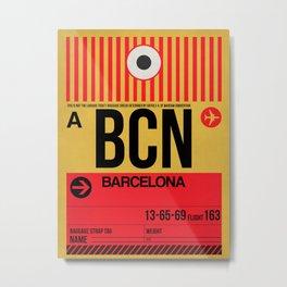 BCN Barcelona Luggage Tag 1 Metal Print