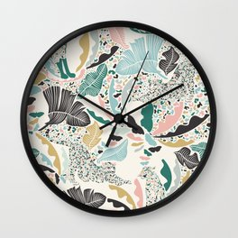 Surreal Wilderness / Colorful Jungle Wall Clock