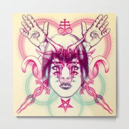 Demonic - Anaglyph Metal Print