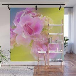Heavenly Pink Roses Wall Mural