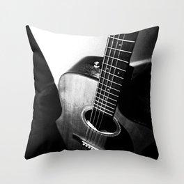Guitar S-W Throw Pillow