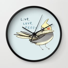 Live, Love, Preen Wall Clock