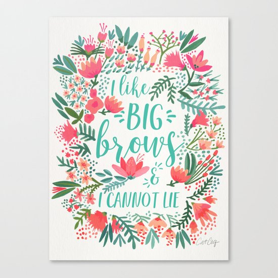 Big Brows – Juicy Palette Canvas Print