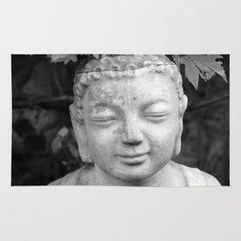 Buddha back and white Rug