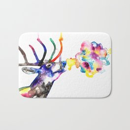 Winter Stag fantasy Christmas Gifts Bath Mat