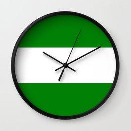 flag of rotterdam Wall Clock